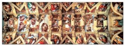 Buonarroti: Sistine Chapel - 1000pc Panoramic Jigsaw Puzzle by Educa