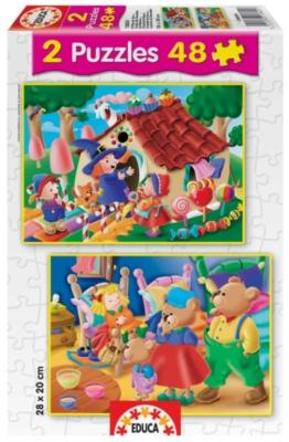 Hansel & Grettle / Goldilocks - 2 X 48pc Jigsaw Puzzles by Educa