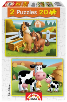 Mothers And Babies - 2 X 20pc Jigsaw Puzzles by Educa