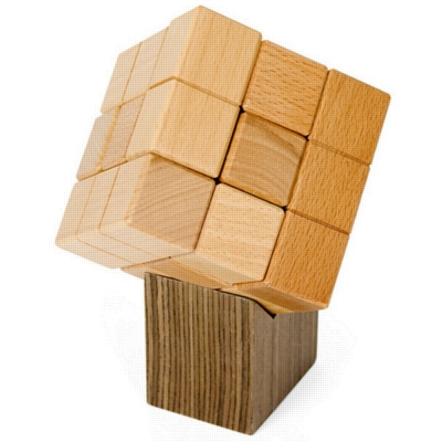Wooden Assembly Puzzles - Magnacube w/ Stand