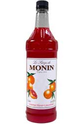 Monin Classic Flavored Syrups - 1L Plastic Bottle Case