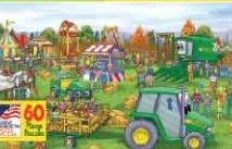 Johnny Tractor: At The County Fair - 60pc Jigsaw Puzzle By Great American Puzzle Factory