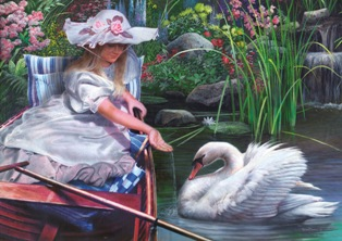 The Swan - 300pc Jigsaw Puzzle By Great American Puzzle Factory
