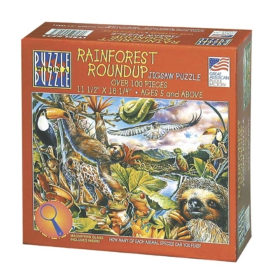 Rainforest Roundup - 100pc Jigsaw Puzzle By Great American Puzzle Factory