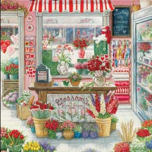 Blossoms Flower Shoppe - 750pc Large Format Jigsaw Puzzle by Great American Puzzle Factory