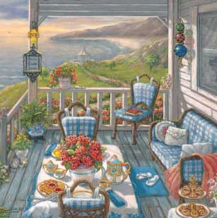 Seaside Inn - 750pc Large Format Jigsaw Puzzle by Great American Puzzle Factory