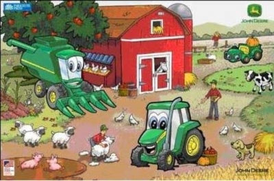 Johnny Tractor & Friends - 6pc Wooden Jigsaw Puzzle By Great American Puzzle Factory