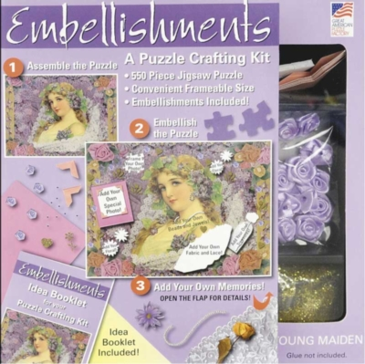 Embellishments: Young Maiden - 550pc Jigsaw Puzzle By Great American Puzzle Factory