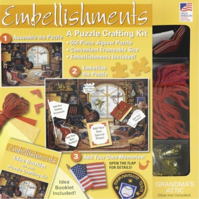 Embellishments: Grandma's Attic - 550pc Jigsaw Puzzle By Great American Puzzle Factory