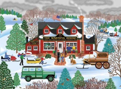 Heartland The Warming House - 550pc Jigsaw Puzzle By Great American Puzzle Factory