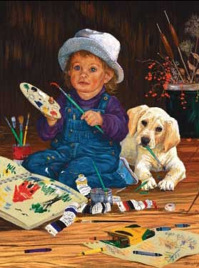 Little Artist - 550pc Jigsaw Puzzle by Great American Puzzle Factory