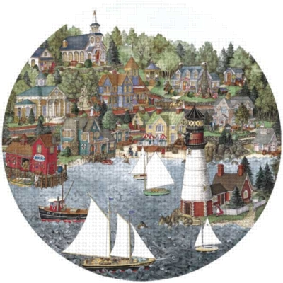 Sweetwater Cove - 500pc Shaped Jigsaw Puzzle By Great American Puzzle Factory