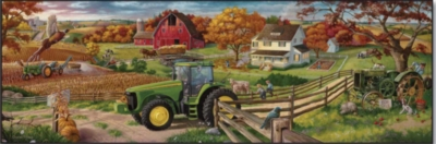 John Deere: 100 Years Of Farming - 500pc Jigsaw Panoramic Puzzle By Great American Puzzle Factory