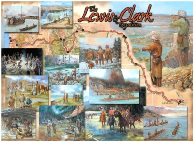 Lewis & Clark Expedition (Timeline) - 1000pc Jigsaw Puzzle By Great American Puzzle Factory