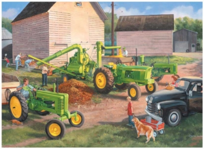 John Deere: Shelling Days - 1000pc Jigsaw Puzzle By Great American Puzzle Factory