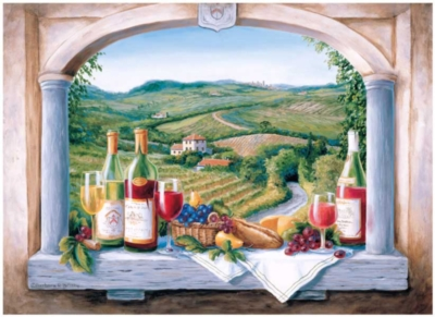 Tuscan Picnic - 1000pc Jigsaw Puzzle By Great American Puzzle Factory