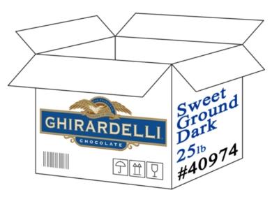 Ghirardelli Sweet Ground Dark Chocolate & Cocoa Powder - 25lb Box
