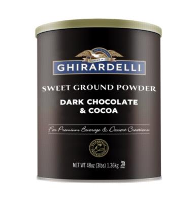 Ghirardelli Sweet Ground Dark Chocolate & Cocoa Powder - 3lb Can