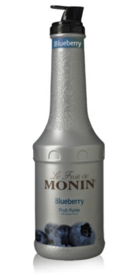 Monin Fruit Puree - 1L Plastic Bottle: Blueberry