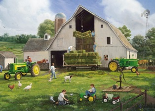 John Deere: Haying Days - 1000pc Jigsaw Puzzle By Great American Puzzle Factory