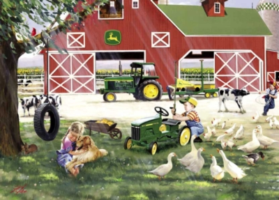 John Deere: Little Farmhands - 1000pc Jigsaw Puzzle By Great American Puzzle Factory