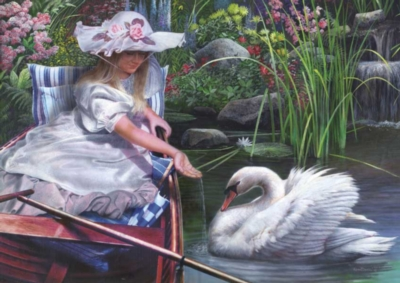 The Swan - 1000pc Jigsaw Puzzle By Great American Puzzle Factory