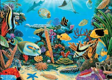Underwater Rescue Reef - 1000pc Jigsaw Puzzle by Great American Puzzle Factory