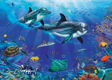 Underwater Undersea Splendor - 1000pc Jigsaw Puzzle by Great American Puzzle Factory