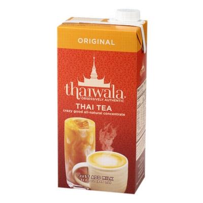 Thaiwala Thai Tea Concentrate: Original - 32 oz. Carton