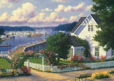 Roche Harbor - 1000pc Jigsaw Puzzle by Great American Puzzle Factory