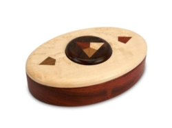 Puzzle Box - Button Deluxe (Padauk, Maple, Walnut)
