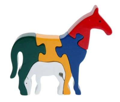 Horse & Foal - 5pc Eco-Friendly Wooden Jigsaw Puzzle by ImagiPLAY
