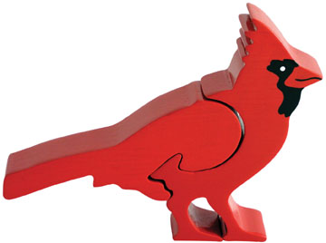 Cardinal - 2pc Chunky Wooden Puzzle By ImagiPLAY