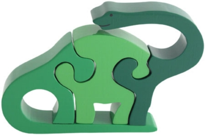 Brontosaurus - 3pc Eco-Friendly Wooden Jigsaw Puzzle by ImagiPLAY