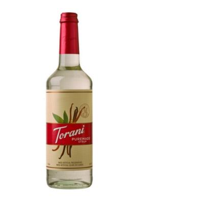 Torani Puremade Flavor Syrup: 750ml Glass Bottle
