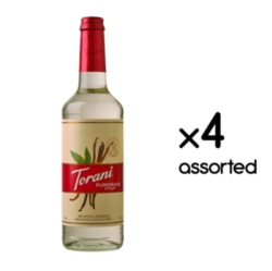 Torani Puremade Flavor Syrup: 750ml Glass Bottle Assorted Case