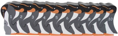 Counting Penguins - 10pc Eco-Friendly Wooden Jigsaw Puzzle by ImagiPLAY