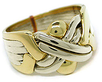 Gold Two Tone 6-Band - Puzzle Ring