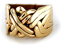 Gold Classic 8-Band - Puzzle Ring