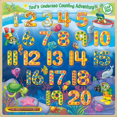 Leapfrog: Tad's Undersea Counting Adenture - 10pc Wooden Jigsaw Puzzle by Masterpieces