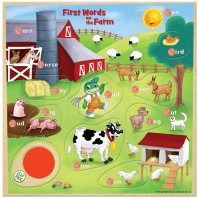 Leapfrog: First Words on the Farm - 9pc Kids Puzzle by Masterpieces