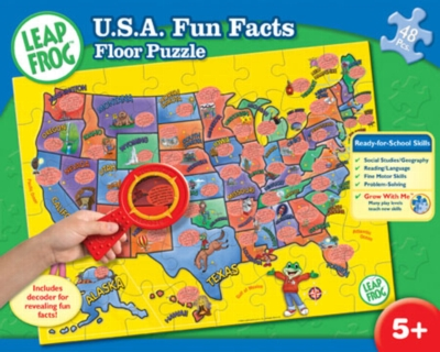 Leapfrog: USA Fun Facts - 48pc Jigsaw Puzzle by Masterpieces