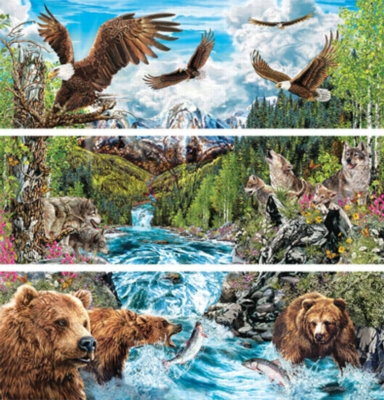 River of Life - 3 x 500pc Panoramic Jigsaw Puzzle by Masterpieces