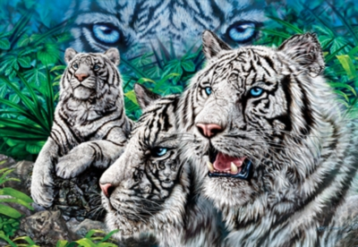 Majestic Eyes - 500pc Glow in the Dark Jigsaw Puzzle by Masterpieces