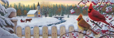 White Crimson Morning - 1000pc Panoramic Jigsaw Puzzle by Masterpieces