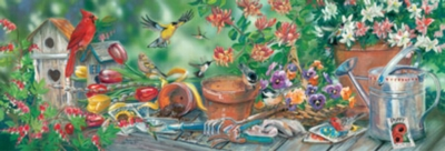 Garden Jamboree - 1000pc Panoramic Jigsaw Puzzle by Masterpieces
