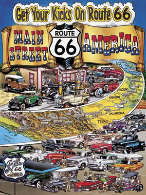 Get Your Kicks on Rt 66 - 500pc Jigsaw Puzzle by Masterpieces