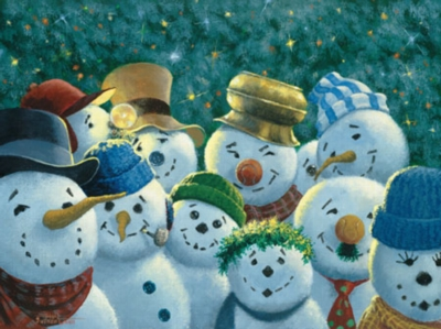 Sunshine Committee Snowmen - 550pc Jigsaw Puzzle by Masterpieces