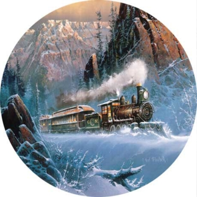 Climbing Eagle Pass - 500pc Round Jigsaw Puzzle by Masterpieces