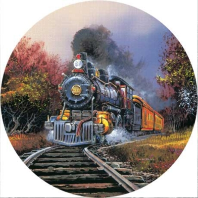 Rolling Through - 500pc Round Jigsaw Puzzle by Masterpieces